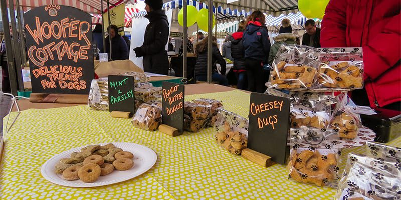 Woofer Cottage Dog Treats at the Kelso Farmers Market