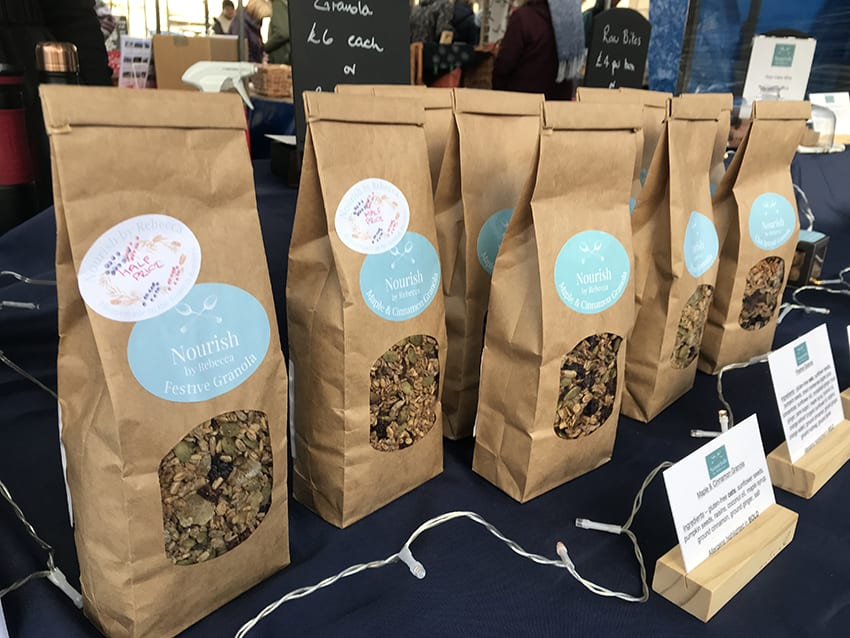 Nourish by Rebecca at Kelso Farmers Market in December 2018