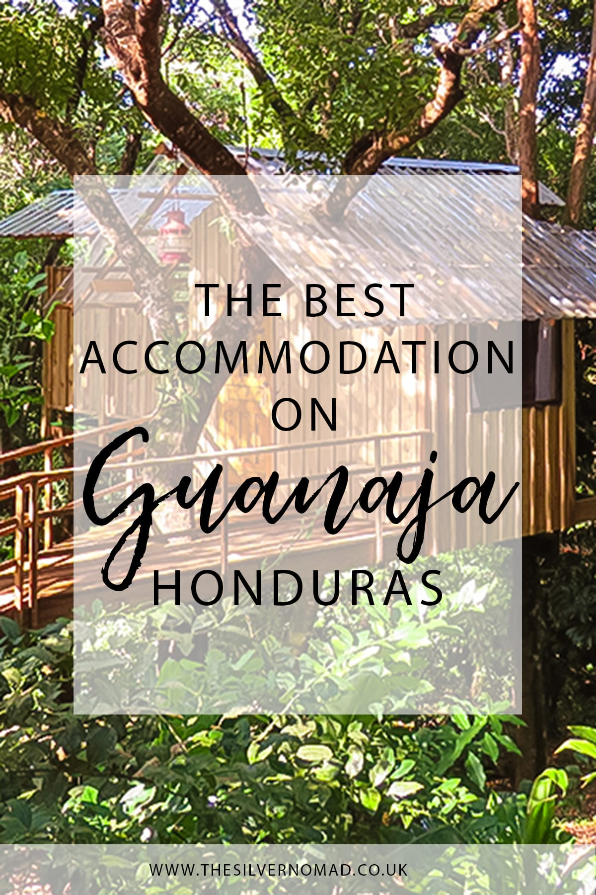 The best accommodation on Guanaja Honduras with Treehouse in the background