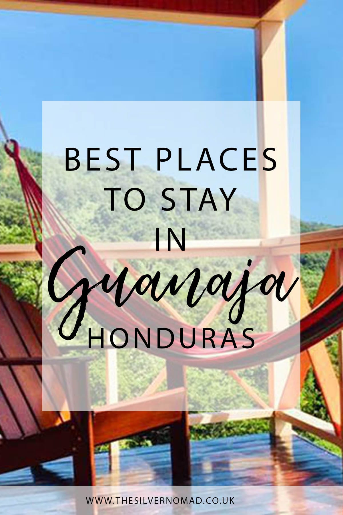 The best places to stay in Guanaja Honduras with hammock in the background