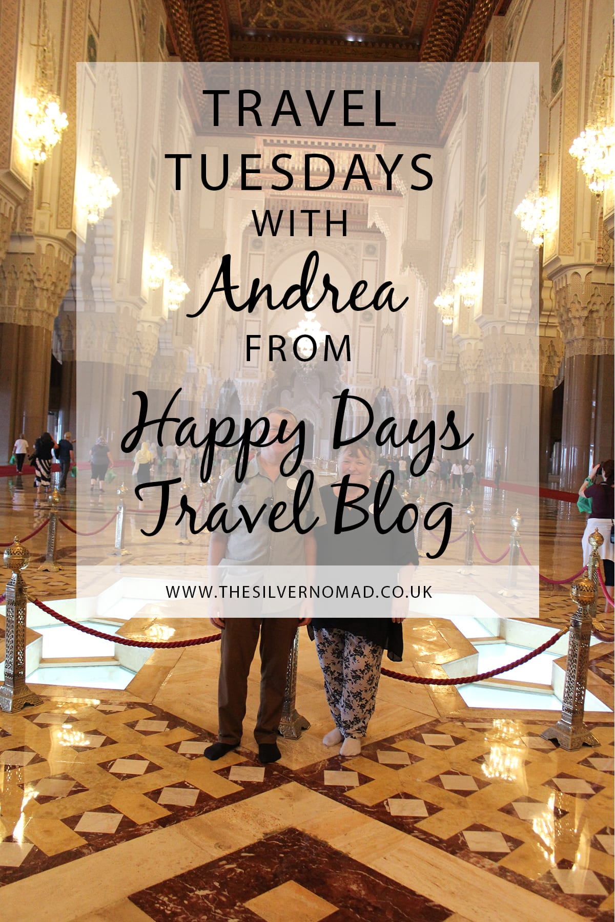 Travel Tuesday with Happy Days Travel Blog. Andrea answers questions on her travel style, tips and favourite destinations to travel to.