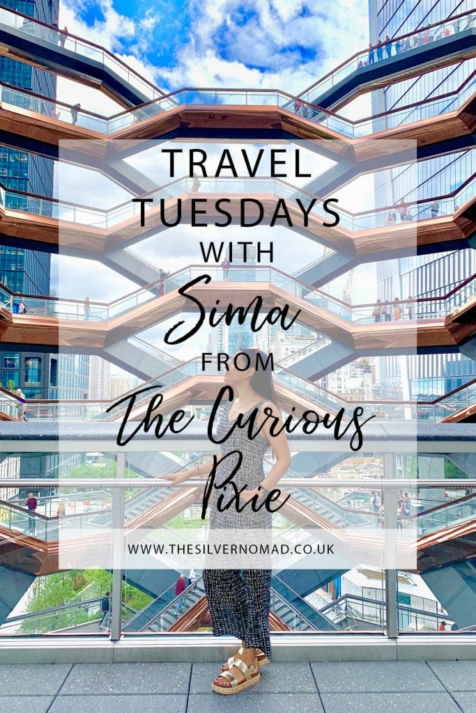 Travel Tuesday with The Curious Pixie. Sima answers questions on her travel style, tips and favourite destinations to travel to.