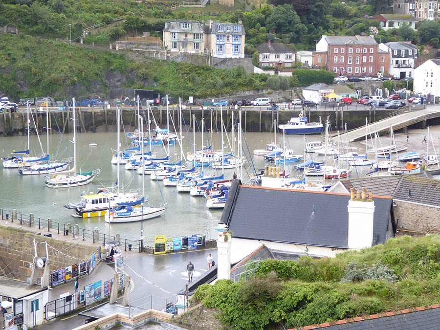 The bay at Ilfracombe with yachts in the by and houses around it one of the best weekends in Devon