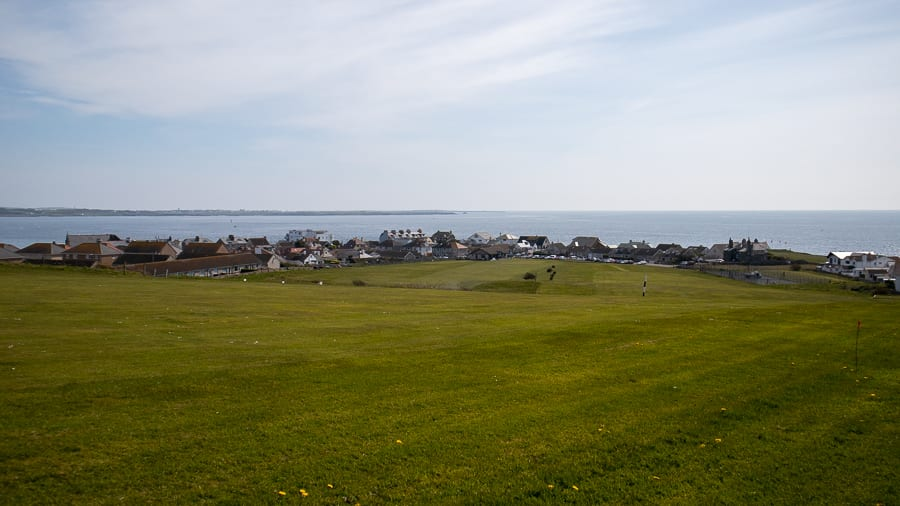 Port St Mary Golf Course with views down to the sea beyond