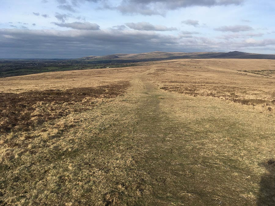 moorland leading off to hills in the background