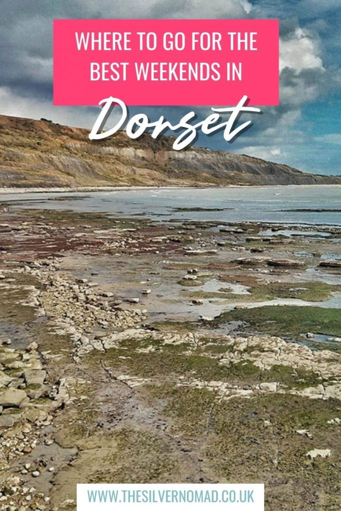 cove with sea and the words Where to go for the best weekends in Dorset superimposed