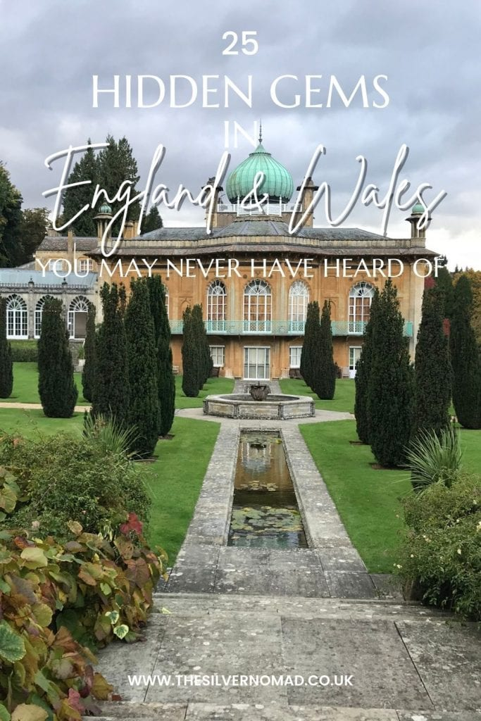 image of a country house with a green onion dome with 25 hidden gems in England and Wales that you may never have heard of in text superimposed