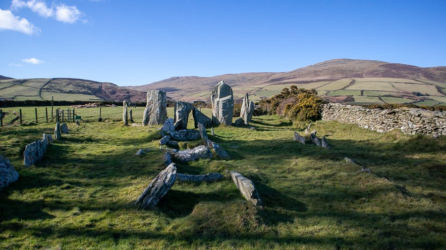Ancient stones denoting a burial ground in the Isle of Man