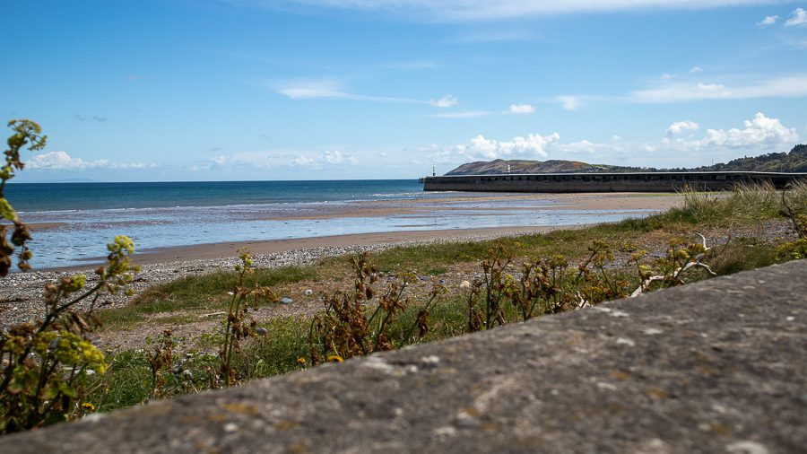 Ramsey Beach with the pier in the background